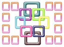 Abstrakter bunter quadratischer Glashintergrund Stock Abbildung