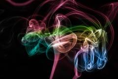 Abstrakter bunter Rauchhintergrund Stockfoto