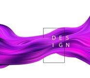 Abstrakter bunter Vektorhintergrund, flüssige Welle des Farbflusses für Designbroschüre, Website, Flieger stock abbildung