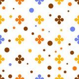 Abstrakter bunter Vektorhintergrund mit Blumen Stockbild