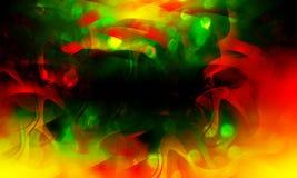 Abstrakter bunter Wellenhintergrund, Weihnachtszauberschein, Lichtpunkte, defekter Effekt des Vektors Eine Abbildung einer Batika stockbild