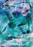 Abstrakter bunter Winterhintergrund, abstrakte natürliche Struktur, Blau malte Struktur, Winterthema, mysteriöses abstraktes back Lizenzfreies Stockbild
