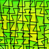 Abstrakter Buntglasmosaikhintergrund stock abbildung