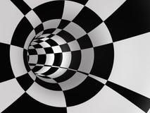 Abstrakter Checkered Drehzahl-Tunnel Stockbild