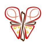 Abstrakter christlicher Schmetterling von einem Kreuz mit einem Herzen, Symbolismus lizenzfreie stockbilder