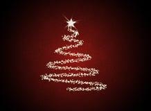 Abstrakter Christmast Baum stock abbildung