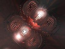 Abstrakter Computer-Chip - 3D Lizenzfreies Stockbild