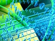 Abstrakter Computerhintergrund stock abbildung