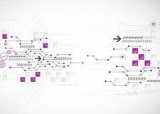 Abstrakter Computertechnologiehintergrund für Ihr Geschäft Lizenzfreies Stockbild