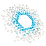 Abstrakter copyspace Hexagon-Rahmenhintergrund lokalisiert Stockbild