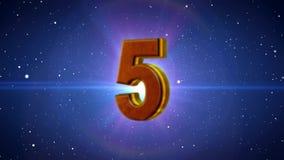 Abstrakter Countdown von zehn bis null lizenzfreie abbildung