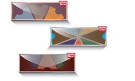Abstrakter Crystal Business Banner New Lizenzfreie Stockbilder