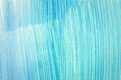 Abstrakter cyan-blauer handgemalter Hintergrund Stockfotos