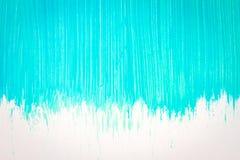 Abstrakter cyan-blauer handgemalter Hintergrund Lizenzfreie Stockbilder