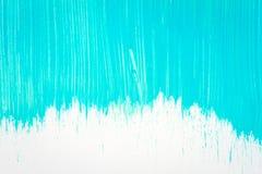 Abstrakter cyan-blauer handgemalter Hintergrund Lizenzfreies Stockbild
