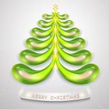 abstrakter 3d Weihnachtsbaum Modischer Weihnachtsbaum für kreatives designÑŽ stock abbildung