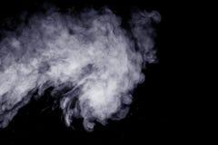 Abstrakter Dampf auf einem schwarzen Hintergrund Lizenzfreie Stockfotos