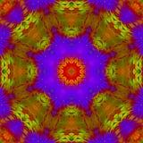 Abstrakter Dekor kaleidoscop Muster-Kreativitätshintergrund, schöner Entwurf, Orientale stock abbildung