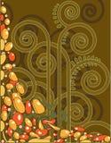 Abstrakter dekorativer Hintergrund Stockbilder
