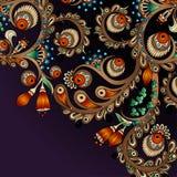 Abstrakter dekorativer mit Blumenhintergrund des Vektors. Lizenzfreie Stockfotografie
