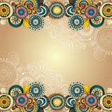 Abstrakter dekorativer mit Blumenhintergrund des Vektors Stockfotografie