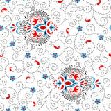 Abstrakter dekorativer Musterzusammenfassungshintergrund Stockbild