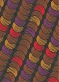 Abstrakter dekorativer Weinlesehintergrund der Kreise Lizenzfreie Stockfotografie