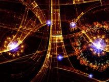 Abstrakter Digital-Welthintergrund Stockfotografie