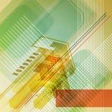 Abstrakter digitaler Entwurf mit Pfeilen. Stockbilder