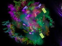 Abstrakter digitaler Fractal, Fantasiedesign, dynamische Explosion der Dekoration, magische Eleganz festlich stock abbildung