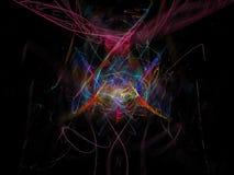 Abstrakter digitaler Fractal, Fantasiedesign, dynamische Explosion der Formdekoration, magische Eleganz festlich stock abbildung