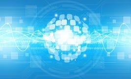 Abstrakter digitaler Kugeltechnologie-Verbindungshintergrund Lizenzfreie Stockbilder