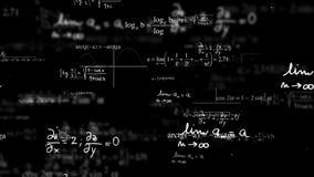Abstrakter digitaler Raum mit Mathematik- und Physikformeln lizenzfreie abbildung