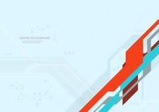Abstrakter Digitaltechnik-flacher Hintergrund Lizenzfreie Stockbilder
