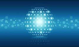 Abstrakter Digitaltechnikinternet-Hintergrund der Kugel Stockbilder