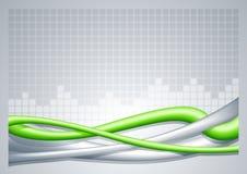 Abstrakter Drahtgrünhintergrund. Stockfoto