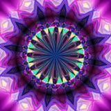 Abstrakter drehender Hintergrund mit dem kaleidoskopischen Gegenstand, der eine Illusion der Bewegung schafft stockfotografie