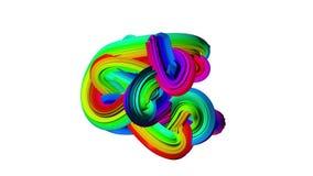 Abstrakter drehender mehrfarbiger Klumpen der Welle Weißer Hintergrund vektor abbildung