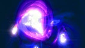 Abstrakter drehender Sternnebelfleck mit einer komplexen Struktur Fractalkunstgraphik stock video