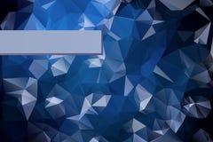 Abstrakter dreieckiger blauer Hintergrund mit polygonalem Stockbilder