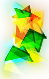 Abstrakter dreieckiger Hintergrund 3d Stockbild