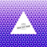 Abstrakter Dreieckmusterhintergrund mit Textboxdesign Stockfoto