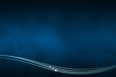 Abstrakter dunkelblauer Hintergrund mit Linien an der Unterseite Stockfotografie