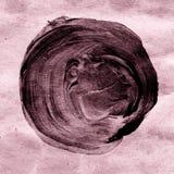 Abstrakter dunkelbrauner acrylsauerkreis auf strukturiertem beige Hintergrund Lizenzfreie Stockfotos