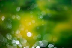 Abstrakter dunkelgrüner bokeh Hintergrund Stockfoto