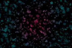 Abstrakter dunkler Hintergrund gemacht von den Quadraten mit Steigungslicht stockfoto