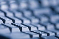 Abstrakter dunkler Tastaturhintergrund Lizenzfreie Stockfotos