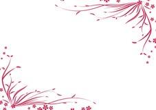 Abstrakter Ecknaturrasen mit Blatt und Blume lizenzfreie abbildung