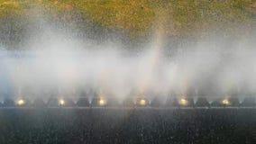 Abstrakter Effekt von Blasen in einem Wasserbrunnen stock footage