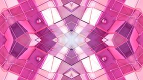 Abstrakter einfacher Hintergrund 3D in der roten purpurroten Steigungsfarbe, niedrige Polyart als moderner geometrischer Hintergr lizenzfreie abbildung